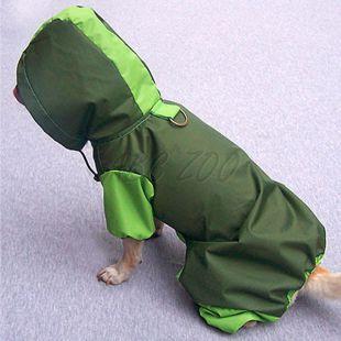 Kutya esőköpeny, olivazöld - borsózöld, XS