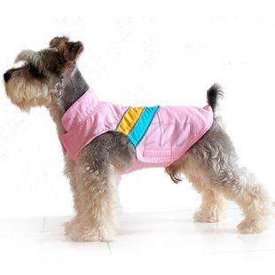 Bélelt dzseki kutyának - rózsaszín, L