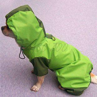Esőkabát kutyáknak - zöld, S