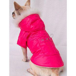 Kabát kutya számára - sötétrózsaszín, XXL