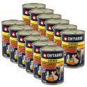 ONTARIO kutyakonzerv, csirke, sárgarépa és olaj - 12 x 400g