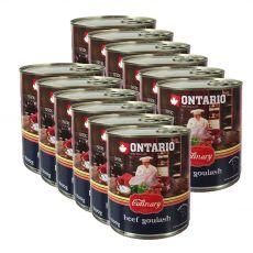 ONTARIO Culinary Beef Goulash konzerv 12 x 800 g