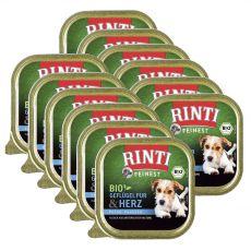 Nedves kutyaeledel RINTI Bio baromfi szívek 12 x 150 g
