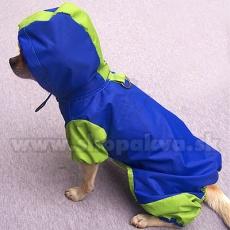 Kutya esőköpeny, kék - zöld, S