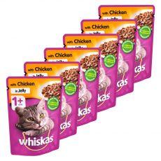Whiskas csirke zacskós eledel kocsonyában 6 x 100 g
