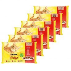 Friskies alutasakos macskaeledel - csirke, marha, bárány és kacsa szószban 6 x (4 x 85 g)