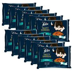 FELIX Tasty Shreds zacskós eledel, halválogatás szószban 12 x (4 x 80 g)