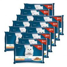 Gourmet Perle alutasakos macskaeledel, mini szeletek szószban 12 x (4 x 85 g)