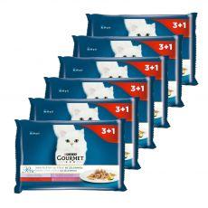 Gourmet Perle alutasakos macskaeledel, mini szeletek zöldségekkel szószban 6 x (4 x 85 g)