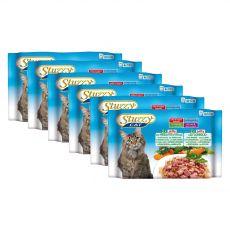 Stuzzy Cat MULTIPACK sonka és borjúhús + nyúl zselében 6 x (4 x 100 g)