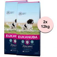 Eukanuba Active Adult Medium Breed 2 x 12 kg