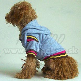 Kapucnis pulóver kutyának - szürke, XXL