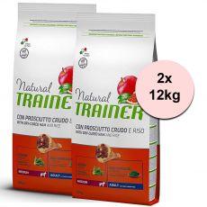 TRAINER Natural Medium Adult szárított sonka 2 x 12 kg