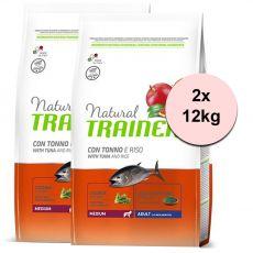 Trainer Natural Medium Adult hal és rizs 2 x 12 kg