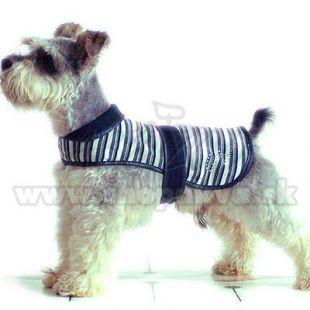 Fekete-fehér kutya mellény, M