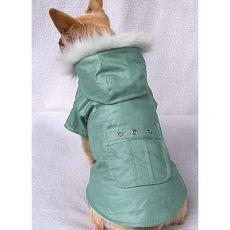Kabát kutyának zsebbel - zöld, M