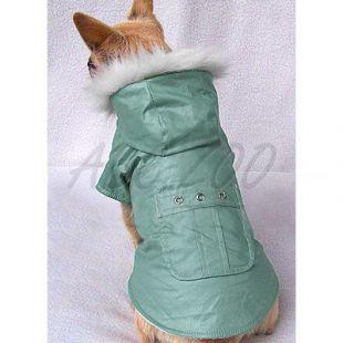 Kutyakabát zsebbel - zöld, S