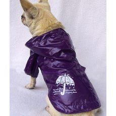 Esőköpeny kutyáknak - lila, esernyő, S
