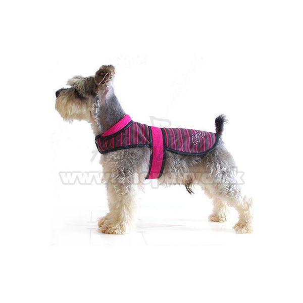 Mellény kutyáknak rózsaszín fekete, XL | ABC ZOO