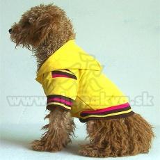 Kutya pulóver kapucnival - sárga, M