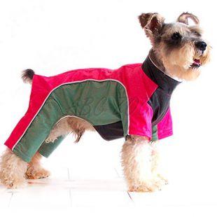 Rózsaszín-zöld overál kutyának, XL