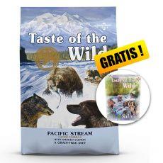 TASTE OF THE WILD Pacific Stream Canine 18,14 kg + AJÁNDÉK
