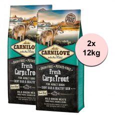 Brit CARNILOVE Fresh Carp & Trout 2 x 12 kg