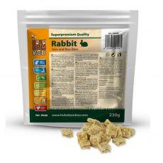 HUHU Bamboo nyúlbőrdarabkák rizzsel 230 g
