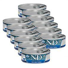 Farmina N&D cat tuna, squid & shrimp konzerv 12 x 80 g