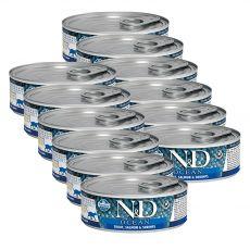 Farmina N&D cat Trout, Salmon & Shrimps konzerv 12 x 80 g
