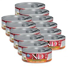 Farmina N&D cat Quinoa Herring & Coconut konzerv 12 x 80 g