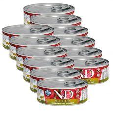 Farmina N&D cat Quinoa Duck & Coconut konzerv 12 x 80 g