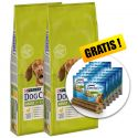 PURINA DOG CHOW ADULT Chicken 2 x 14 kg + AJÁNDÉK