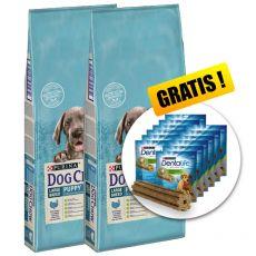 PURINA DOG CHOW PUPPY Large Breed TURKEY 2 x 14 kg+ AJÁNDÉK