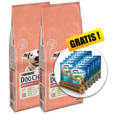 PURINA DOG CHOW SENSITIVE Salmon & Rice 2 x 14 kg+ AJÁNDÉK