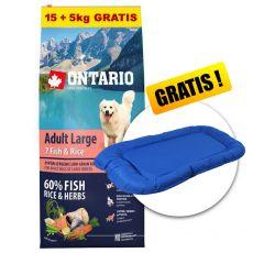 ONTARIO Adult Large 7 Fish & Rice 15+5kg GRÁTISZ+ AJÁNDÉK