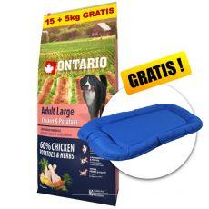 ONTARIO Adult Large - chicken & potatoes 15+5kg GRÁTISZ + AJÁNDÉK