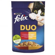 FELIX Fantastic DUO zacskós eledel – marha és baromfi kocsonyában 85 g