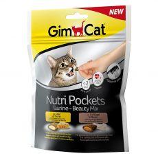 GimCat Nutri Pockets Taurin – Szépség Mix 150 g