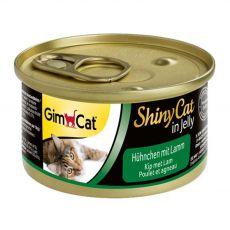 GimCat ShinyCat, csirke + bárány 70 g