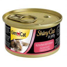 GimCat ShinyCat, csirke + rák 70 g