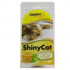 GimCat ShinyCat tonhal + garnéla + maláta 2 x 70 g