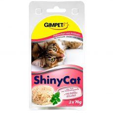 GimCat ShinyCat, csirke + rák 2 x 70 g