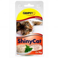 GimCat ShinyCat csirke 2 x 70 g