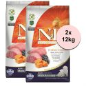 Farmina N&D dog GF PUMPKIN puppy medium/maxi, lamb & blueberry 2 x 12kg