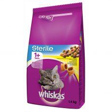 WHISKAS Sterile macskák részére 1,4 kg
