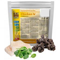 HUHU Bamboo csirkecsomók spenóttal és tőkehallal 200 g