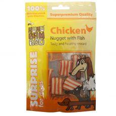 HUHU Bamboo csirke nuggets hallal és béta-karotinnal 75 g