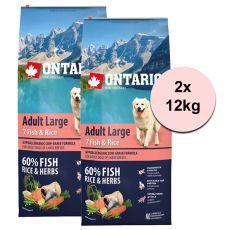 ONTARIO Adult Large 7 Fish & Rice 2 x 12kg
