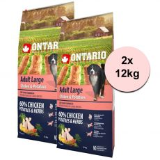 ONTARIO Adult Large - chicken & potatoes 2 x 12kg